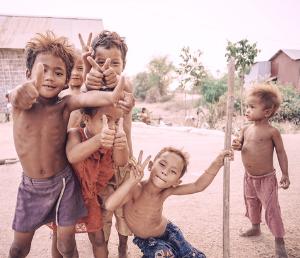 Les enfants au Cambodge
