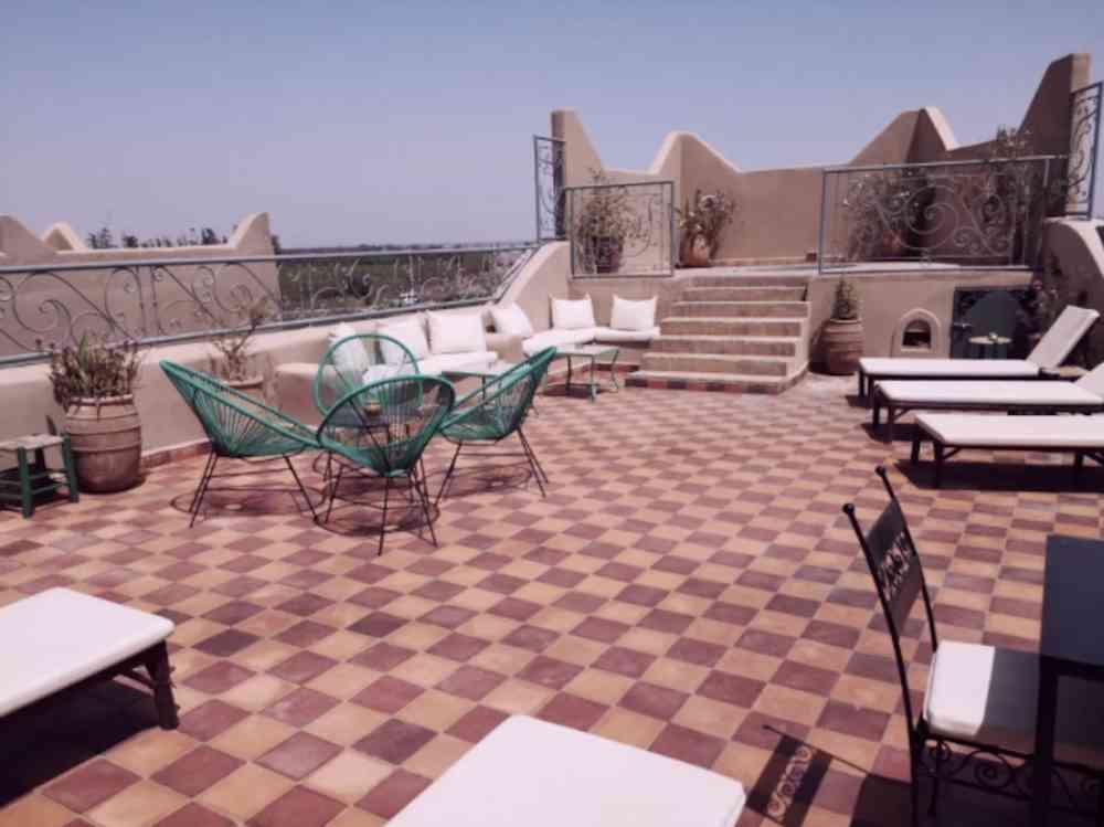terrasse riad au maroc à Taroudant