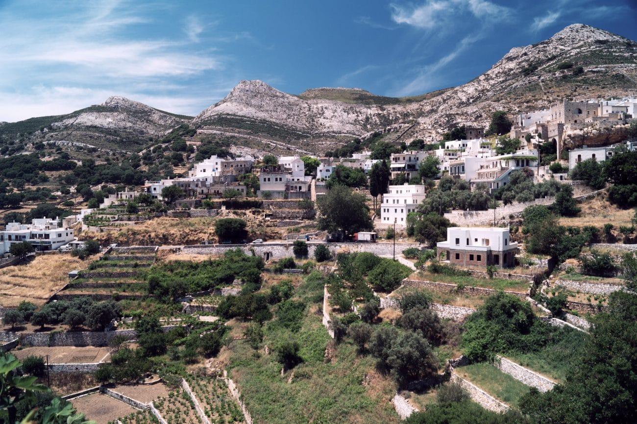 Naxos et sa verdure