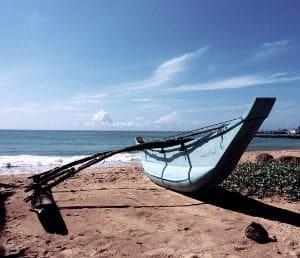 Sri Lanka pirogue plage Tangalle