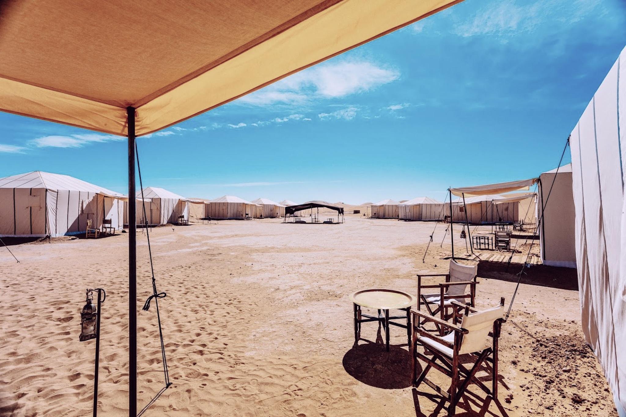 bivouac dans le désert de chegaga