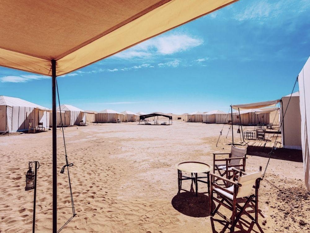 Nouvel an au Maroc dans le désert